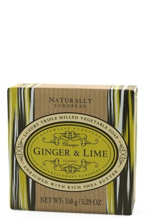 WRAPPED SOAP  - NATURAL EUROPEAN GINGER LIME